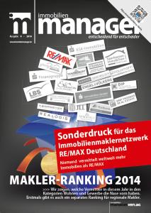 Immobilien Manager Sonderdruck REMAX Deutschland 2014-09