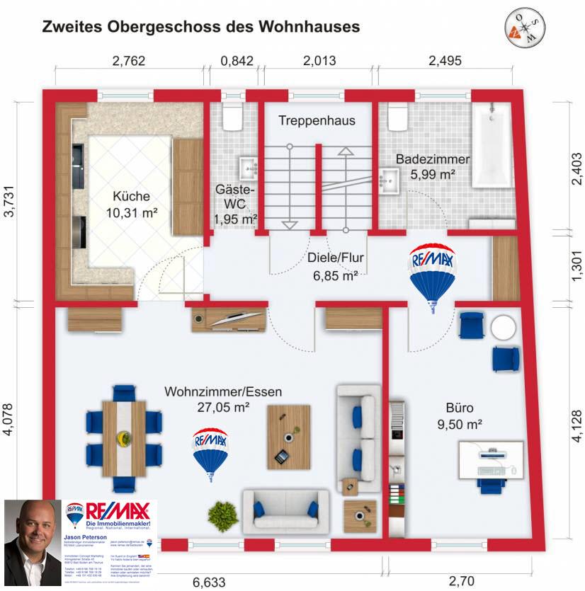 Grundriss / Wohnplan: Kauf 9ZEFH Klingenberg am Main mit 192,71m²