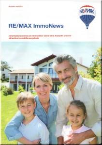 """Bestellen Sie heute noch Ihr Exemplar der aktuellen Zeitschrift """"RE/MAX ImmoNews""""."""