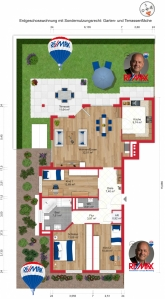 Angebot: Luxuswohnung mit Top-Ausstattung und eigenem Garten