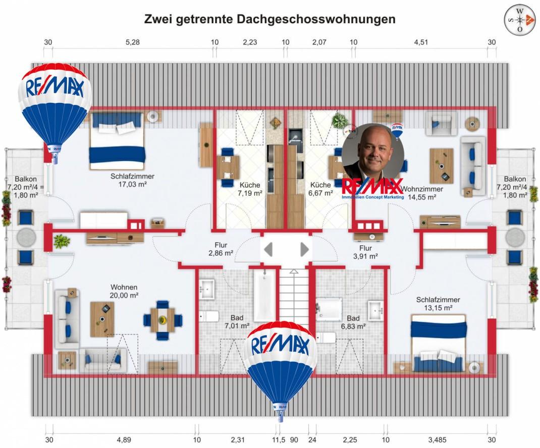 Grundriss (Dachgeschoss) - Kauf 10ZMFH Niederdorfelden mit 393,14m²