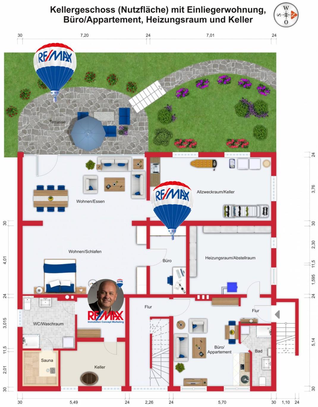 Grundriss (Kellergeschoss) - Kauf 10ZMFH Niederdorfelden mit 393,14m²