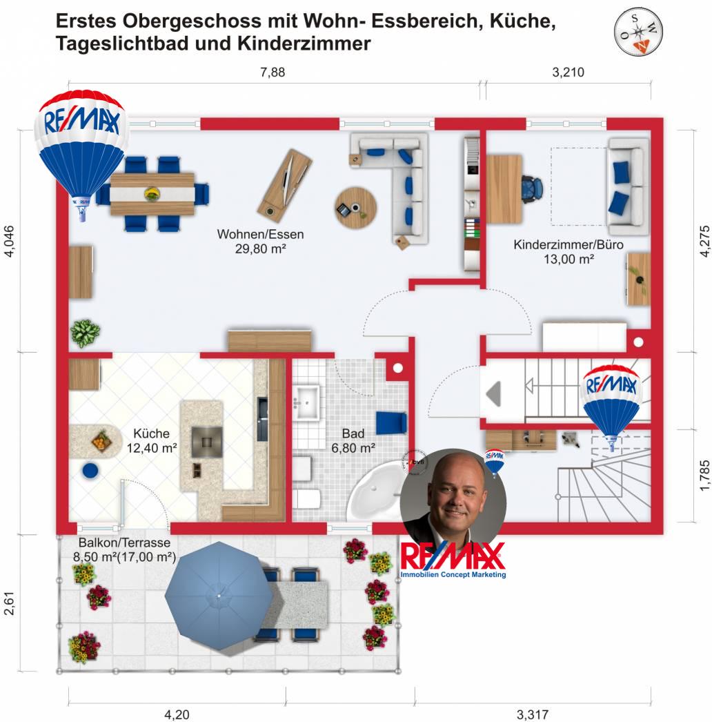 Grundriss / Wohnplan - Kauf 3,5ZMNW Mühlheim-Dietesheim mit 114,97m²
