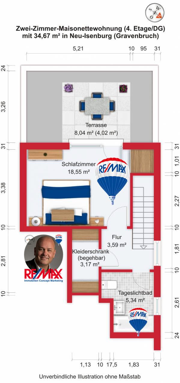 Grundriss / Wohnplan - Kauf 2ZMNW Neu-Isenburg (Gravenbruch) mit 92,46m²