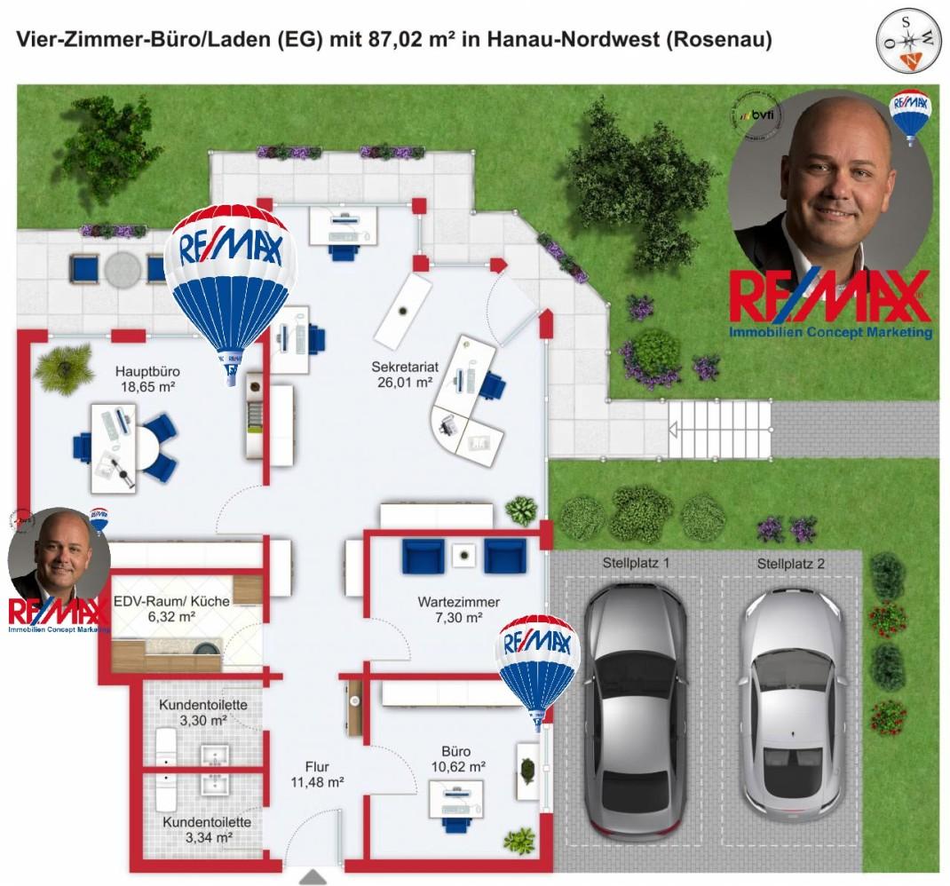 Grundriss / Wohnplan: Kauf 4ZGEW Hanau-Rosenau mit 87,02m²