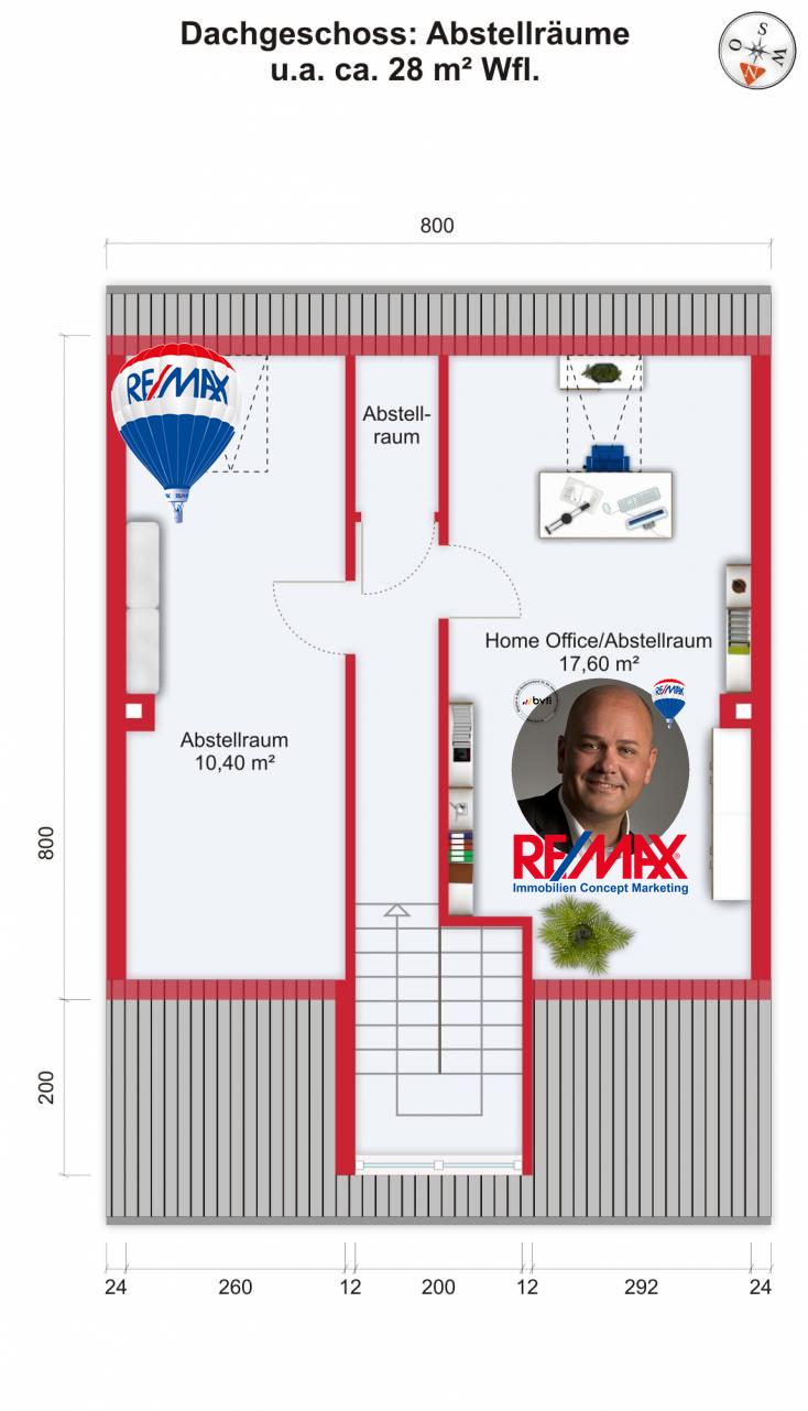 Grundriss / Wohnplan: Kauf 6ZMFH Mühlheim am Main mit 137,85m²
