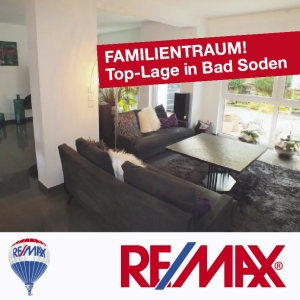 Angebot: FAMILIENTRAUM in Top-Lage von Bad Soden. Extravagantes Architektenhaus.